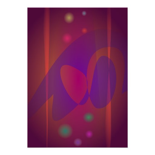 Arte abstracta simples de Avermelhado-Brown Posteres