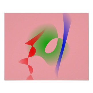 Arte abstracta simples do rosa Salmon