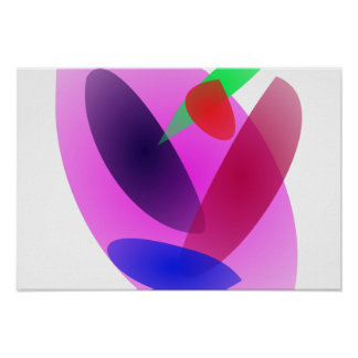 Arte abstracta translúcida simples pôsteres