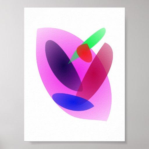 Arte abstracta translúcida simples impressão
