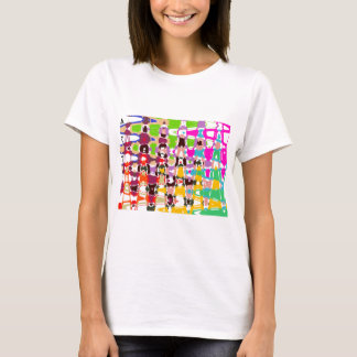 Arte abstracta - triângulos coloridos & formas tshirt