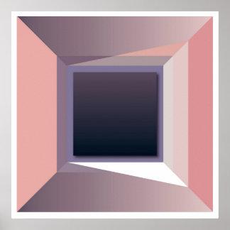 Arte abstrata da parede da geometria, poster