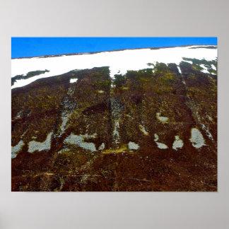 Arte abstrata do poster da paisagem do Scottish