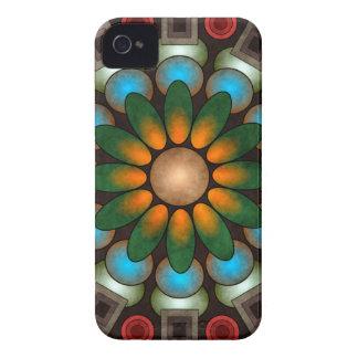 Arte abstrata floral bonito Blackberry do vetor Capa Para iPhone 4 Case-Mate