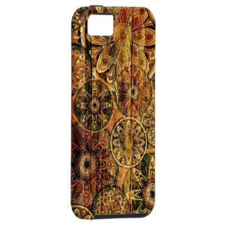 arte abstrata floral de madeira do vetor capa tough para iPhone 5