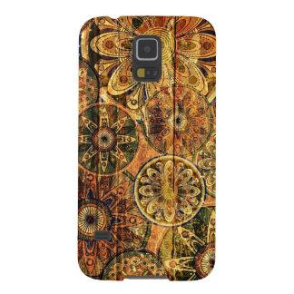 arte abstrata floral de madeira do vetor capas par galaxy s5