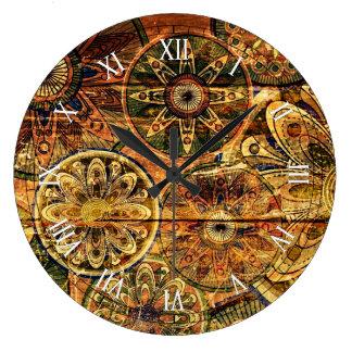 arte abstrata floral de madeira do vetor relógios para paredes
