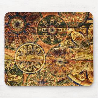 arte abstrata floral de madeira do vetor mouse pads