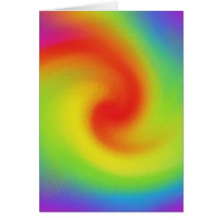 Arte abstrata legal da onda do arco-íris cartão comemorativo