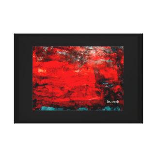 Arte Abstrata - Vermelho/Azul