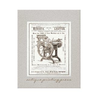 Arte antiga das canvas da máquina impressora impressão em tela