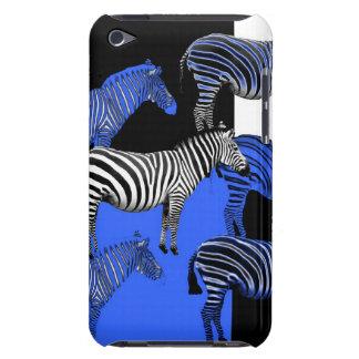 Arte azul de Digitas da zebra Capa iPod Touch