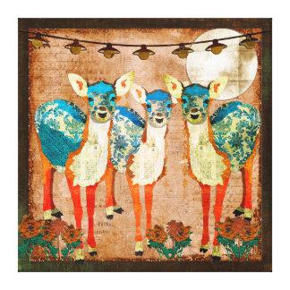 Arte Azure das canvas do jardim do luar dos cervos Impressão Em Tela