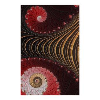 Arte bonita do Fractal Flyer 13.97 X 21.59cm