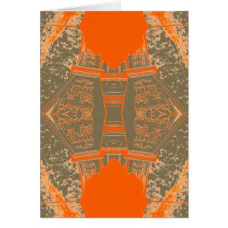 Arte bonita modelada da laranja do outono da cartão