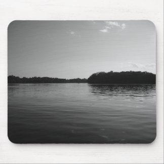 Arte branca preta de Mousepad da paisagem do lago