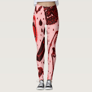 Arte clássica assustador do horror do Dia das Leggings