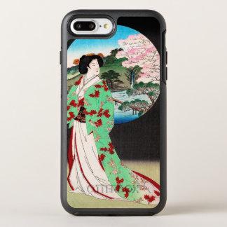 Arte clássica japonesa oriental legal da senhora capa para iPhone 7 plus OtterBox symmetry