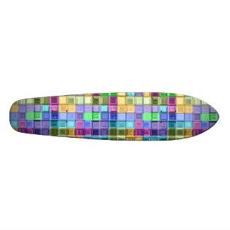 Arte colorida brilhante do mosaico shape de skate 20,6cm