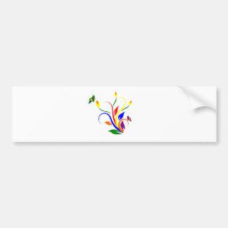 arte colorida da flor adesivo para carro