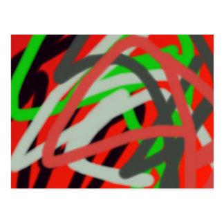 arte colorida de 2993 absract cartão postal