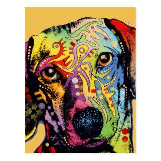 arte colorida do Dachshund Cartão Postal