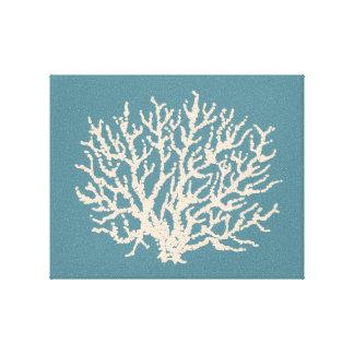 Arte coral da parede do mar impressão de canvas envolvida