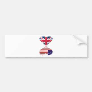 Arte da bandeira dos corações do Reino Unido e dos Adesivo Para Carro