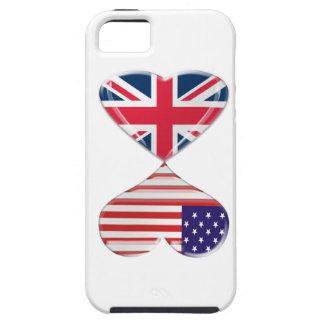 Arte da bandeira dos corações do Reino Unido e dos Capa Para iPhone 5