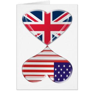 Arte da bandeira dos corações do Reino Unido e dos