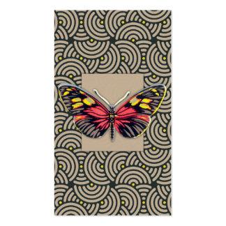 Arte da borboleta do vintage cartão de visita