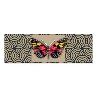 Arte da borboleta do vintage cartão de visita skinny