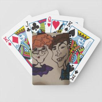 arte da caricatura baralhos de pôquer