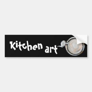 arte da cozinha adesivo para carro