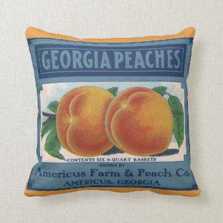 Arte da etiqueta da caixa da fruta do vintage, almofada