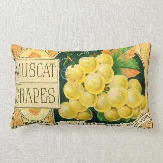 Arte da etiqueta da caixa da fruta do vintage, almofada lombar