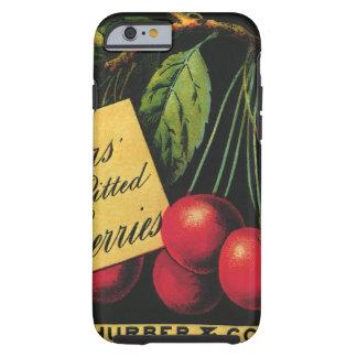 Arte da etiqueta da caixa da fruta do vintage, capa tough para iPhone 6
