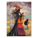 Arte da fantasia do cemitério do gato preto da bru cartao