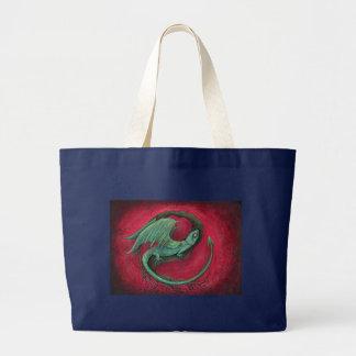 arte da fantasia do dragão do bebê bolsa tote grande