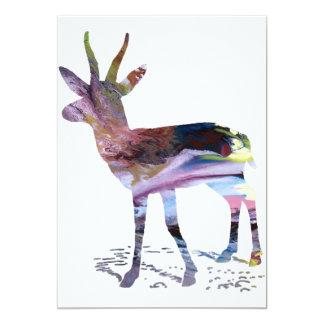 Arte da gazela convite 12.7 x 17.78cm