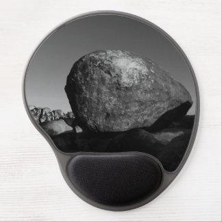 Arte da natureza da paisagem das rochas mouse pad em gel
