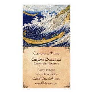 Arte da obra-prima de Katsushika Hokusai das ondas Cartão De Visita