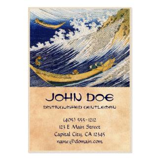 Arte da obra-prima de Katsushika Hokusai das ondas Cartão De Visita Grande