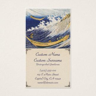 Arte da obra-prima de Katsushika Hokusai das ondas Cartão De Visitas