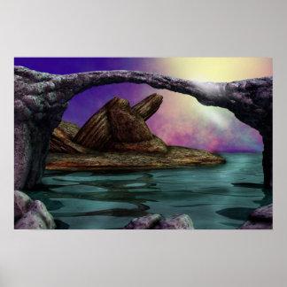 Arte da paisagem de Rocklands Poster