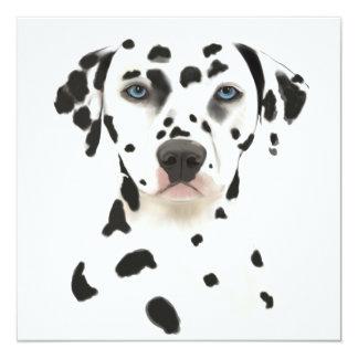 Arte Dalmatian do cão Convite Quadrado 13.35 X 13.35cm
