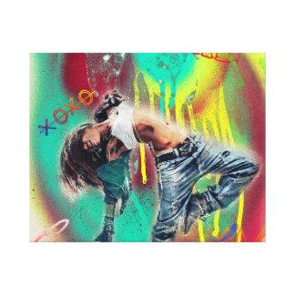 Arte das canvas do bebê da música de dança do amor