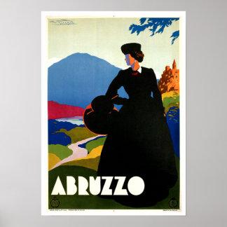 Arte das viagens vintage de Abruzzo Italia Poster