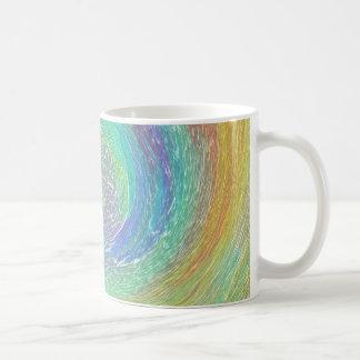 Arte de Absract do ciclone do arco-íris Caneca De Café