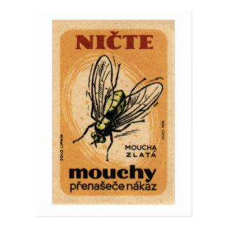 Arte de Checo da mosca da casa de Mouchy Mouca Cartão Postal